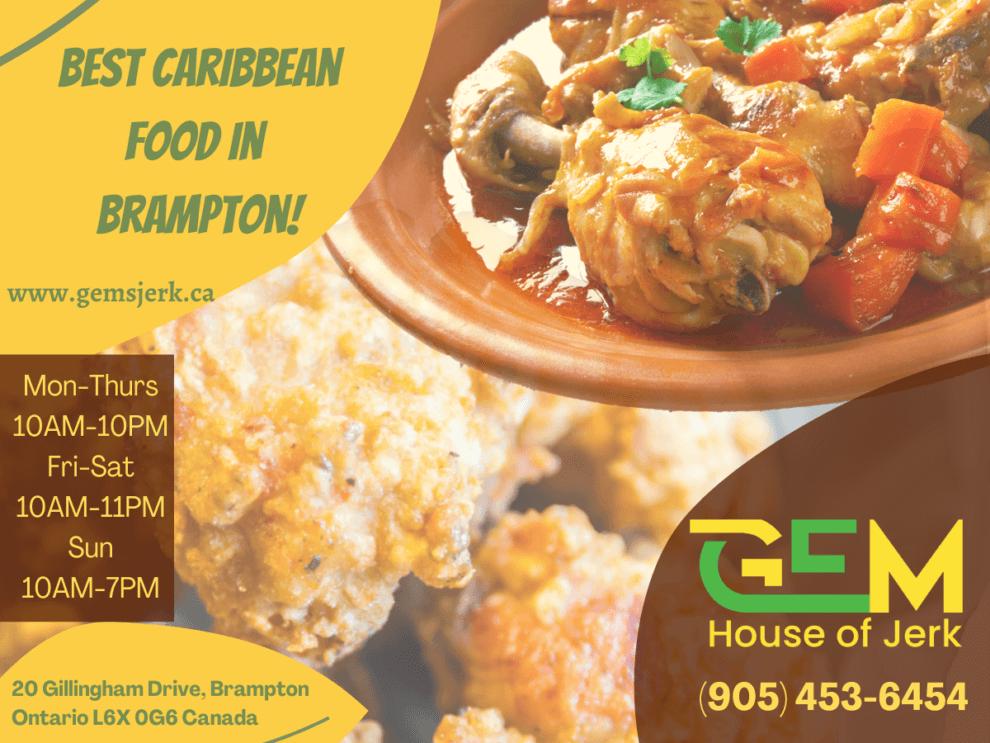 Gems Jerk - The Best Caribbean food in Brampton