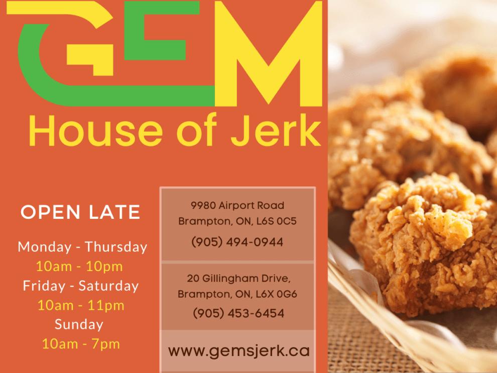 Gems House of Jerk restaurant OPEN LATE