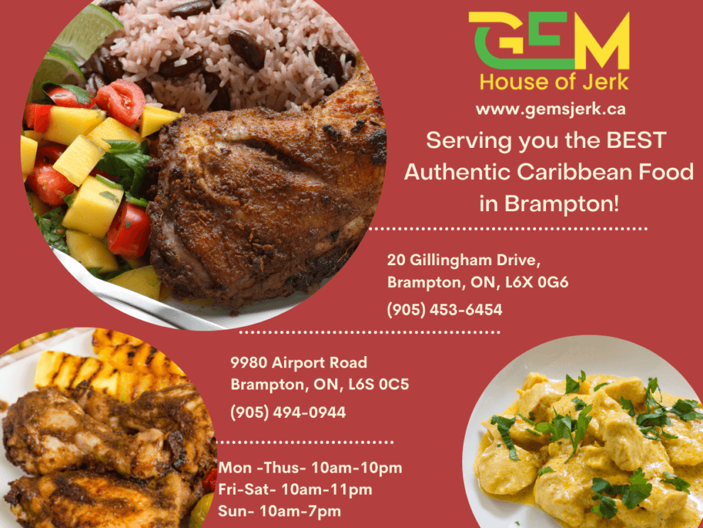 Serving the BEST and Most Authentic Caribbean Food in Brampton!