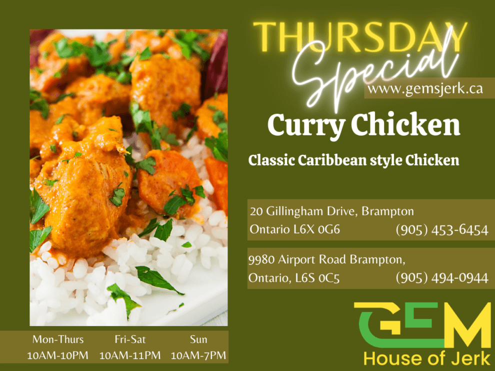 Thursday Special - Curry Chicken