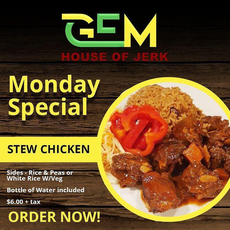 Monday Special - Stew Chicken